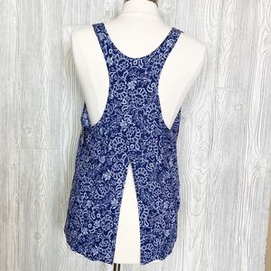 Jasmine and Ginger Blue Floral Tank Size Large